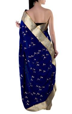 Blue gota sari with blouse piece