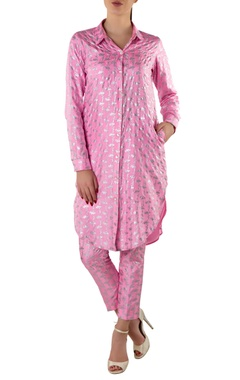 pink printed kurta shirt & pants