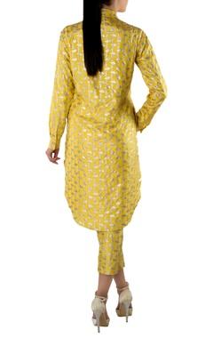 yellow printed kurta shirt & pants
