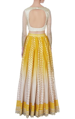 Yellow omber effect lehenga set