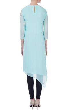 light blue aari embroidered kurta