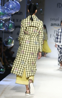 yellow & black gingham check jacket