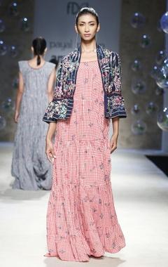 Payal Pratap Blue embroidered peplum jacket