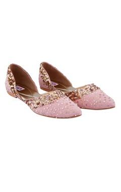 Pink sequin embellished jootis