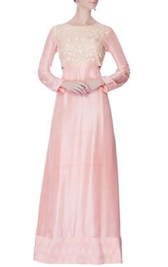 Rose pink embroidered kurta