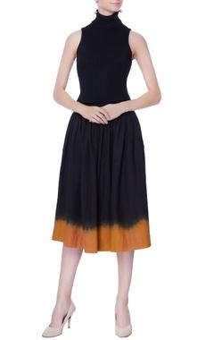 black omber effect skirt