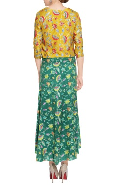 yellow floral blouse & pants