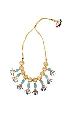 light green choker necklace