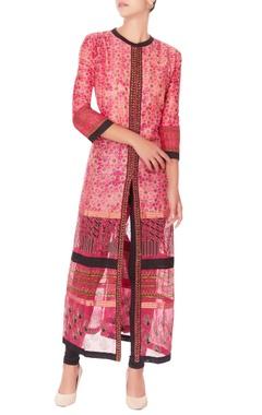 pink printed kurta