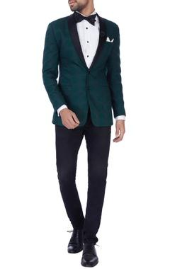 forest green dinner jacket set