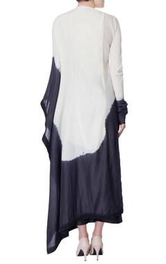 black & white dyed asymmetric kurta