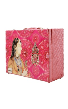 pink printed bridal trunk
