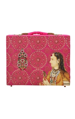 pink printed jewellery bridal trunk