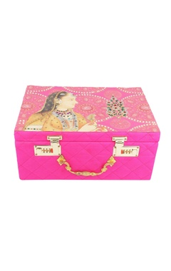 Pink embroidered bridal trunk