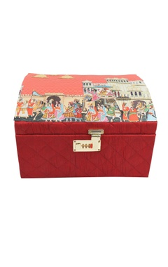 red mevar mahal bridal trunk