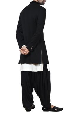 black sherwani with kurta & patiala pants