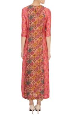 pink hued sanganeri dyed kurta