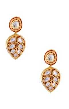 Just Jewellery Gold semi-precious gold plated earrings