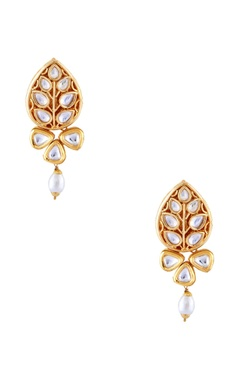 Just Jewellery Gold semi-precious stones gold plated stud earrings