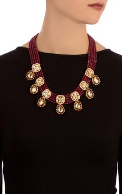 gold semi-precious necklace