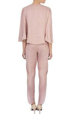 lavender tassel blouse & dhoti pants