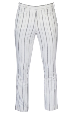 White stripe cotton pants