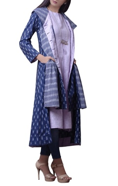 House of Qidwa Blue printed jacket & palazzos