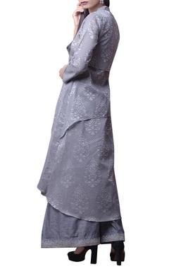 Grey printed kurta & palazzo set