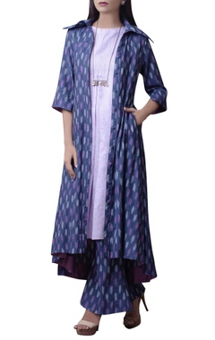House of Qidwa Multicolored printed kurta set