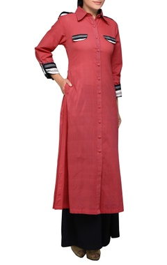 House of Qidwa Pink pleated long kurta