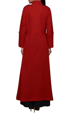 Red south cotton long kurta