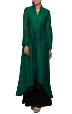House of Qidwa Green double layered kurta