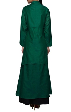 Green double layered kurta