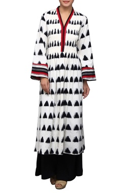 House of Qidwa White printed kurta