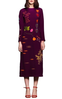purple pumpkin heart dress