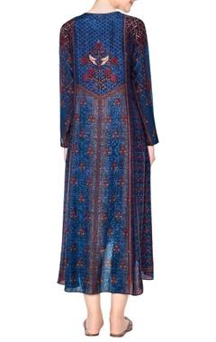 blue printed tunic