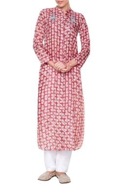 onion pink printed kurta