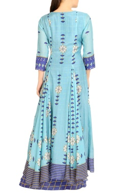 Blue double layer dress
