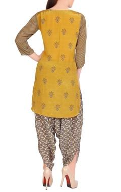 grey printed kurta & dhoti pants