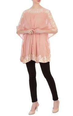 blush pink aari embroidered tunic
