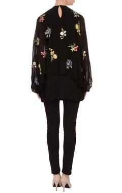 black cape style tunic