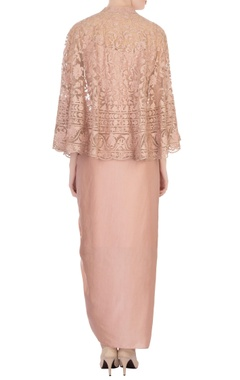 pale pink net cape set