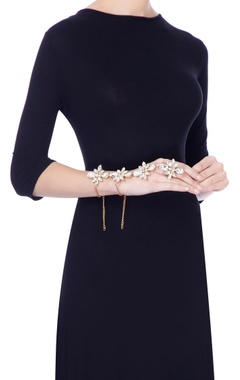 gold plated goddess hand harness