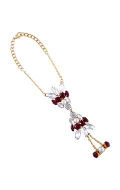 gold plated swarovski slave bracelet