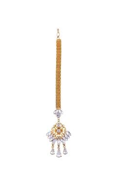gold plated jharokha maangtikka