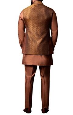 Beige waistcoat & kurta set