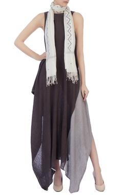 white & grey organic cotton scarf