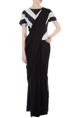 Black & white cotton kurti blouse