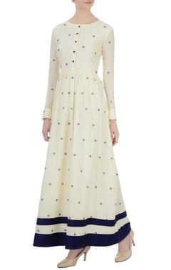 off-white polka dot maxi dress