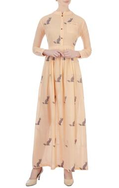 Sayantan Sarkar Tangerine cat motif printed maxi dress